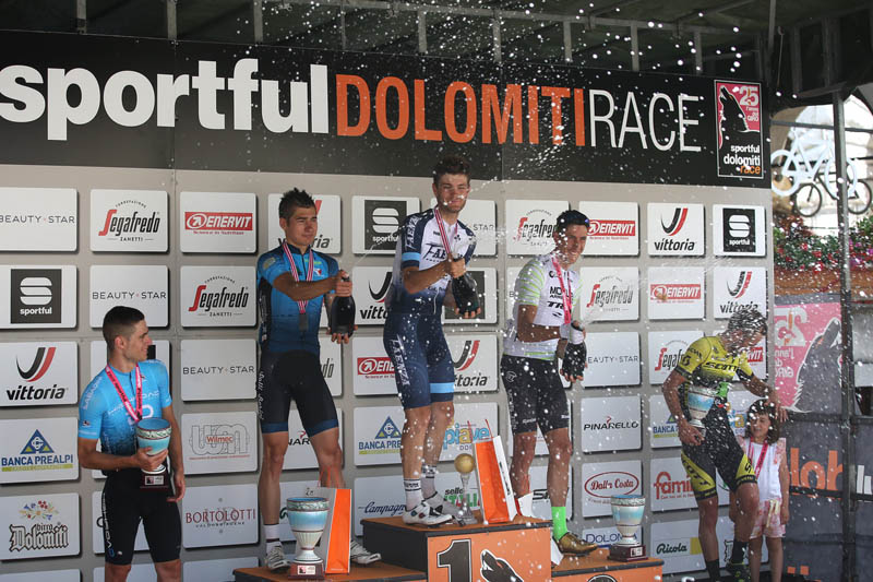 Podio Persorso Medio Maschile Sportful Dolomiti Race 2019
