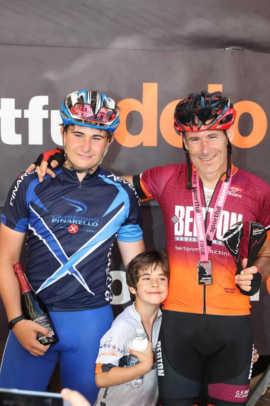 Alberto Carretta con i figli - Sportful Dolomiti Race - Granfondo ciclistica Feltre