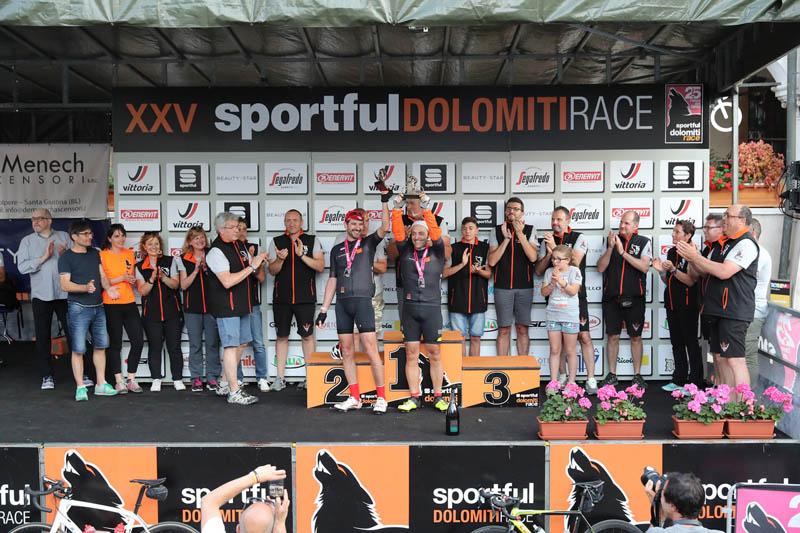 La premiazione delle maglie nere - Sportful Dolomiti Race - Granfondo ciclistica Feltre